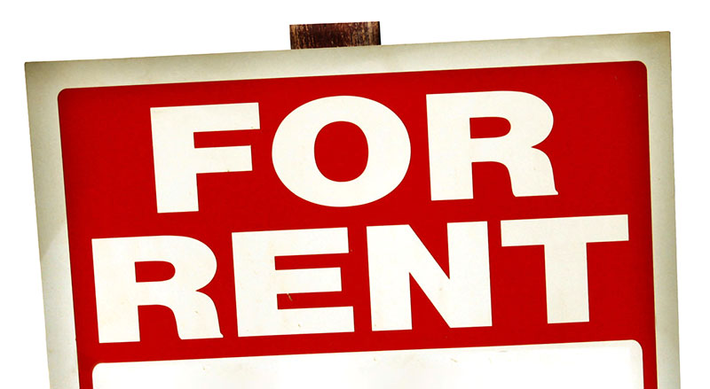 Post For Rent Sign